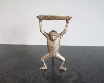 Brass Monkey Dish, Business Card Holder, Soap Dish
