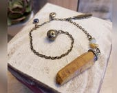 Reiki Chakra Pendulum with Hematoid Quartz Crystal & Antique Bronze Chain