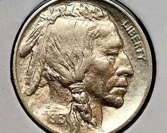 1913 P Buffalo Nickel Type 1 - AU / Almost Uncirculated