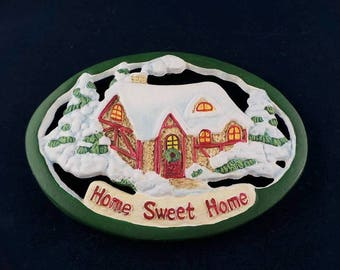 Avon Gift Collection Trivet Home Sweet Home Cast Iron
