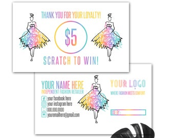 Scratch Off Cards Girl ,  Prize Cards, Free Customizing, Digital files, Instant Download punch Lipsense