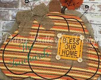 Fall Pumpkin Wall/Door Decor