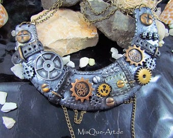 "Steampunk necklace ""Time Lady"""