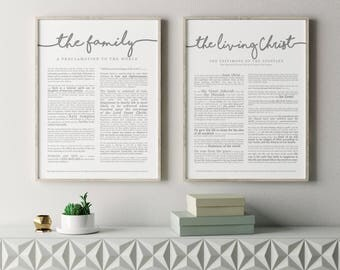 Family Proclamation Print- LDS- Various Sizes