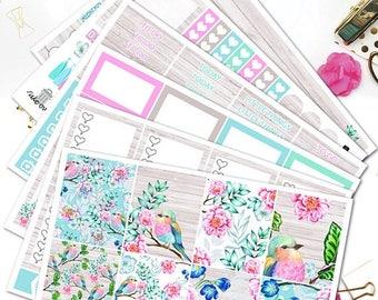25% OFF SALE Spring season Weekly kit/Planner Stickers for Erin Condren Lifeplanner/Spring Planner Stickers/Pastel Spring Floral Weekly kit