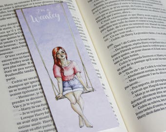 Bookmark Art drawing print, harry potter, ginny weasley illustration bookmark bookmark