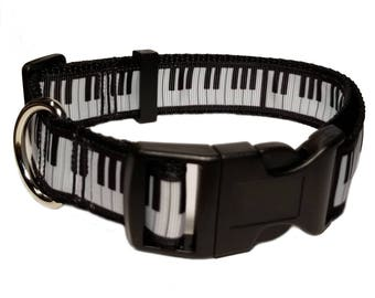 """Piano 1"""" Personalized Pet Dog Collar"""