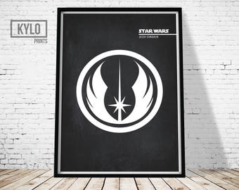 Star Wars, Star Wars Print, Jedi Print, Office Decor, Jedi Art, Star Wars Printable, Printable Art, Digital Print, Star Wars Logo, Wall Art