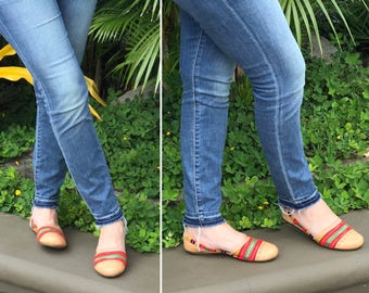 Huarache sandals, Handmade, leather sandals, slip, Huarache