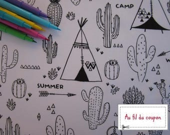 """Fabric color 100% cotton would Oekotex """"Teepee"""""""