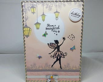 Female/Girl Birthday Card - Fairy - luxury personalised unique quality special bespoke UK - Mum/Daughter/Aunt/Sister/Niece/Wife