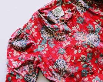 Vintage Laura Ashley Dress, Floral Dress, 80's Floral Dress, Floral Western Dress