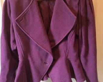 Vintage Neiman-Marcus Womens Purple Jacket