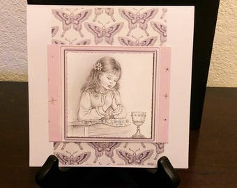 First Communion cards, Religious cards, Communion cards for girls, Butterfly cards, Handmade Communion cards, Holy Communion, Greeting cards