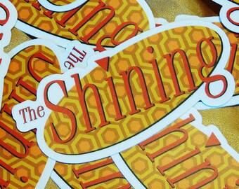 the shining seinfeld logo parody vinyl sticker