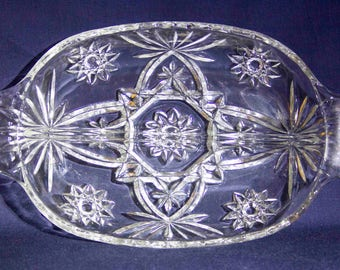 Anchor Hocking Prescut Glass Divided Dish