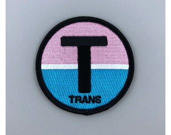 TRANS Man FTM identity patch embroidered iron on Patch LGBTQ gay Lesbian queer sexuality homosexual gender gay gift same sex rainbow pride