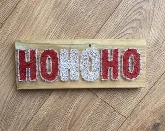 Handmade, Ho Ho Ho String art, Home Decor, Christmas Decoration