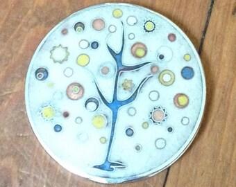 Genuine Vintage Compact Mirror - Round Make up Mirror, Purse Mirror, Gift for her, Vintage Compact, 1960 Compact, Pocket Mirror