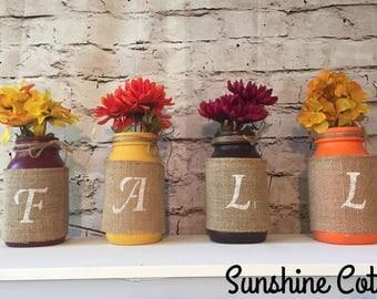 Fall Mason Jar Home Decor