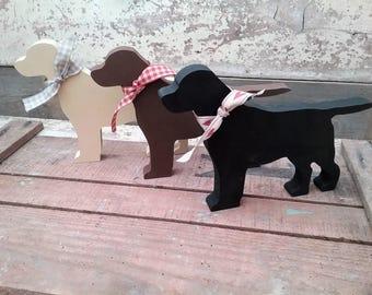 Hand Painted Wooden Labrador, Labrador Ornament, Labrador Decoration, Labrador Keepsake, Dog lover gift, Labrador Lover Gift, Handpainted