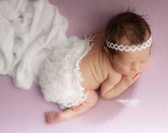 Newborn Headband Photo Prop, Newborn Tieback, Newborn Props, Headband, Baby Prop, New Born Photo Prop