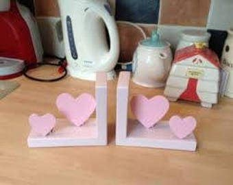 baby pink nursery bookends
