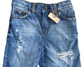 Boys shorts, cutoff shorts, distressed shorts, ripped shorts, first birthday, gift, birthday outfit, light wash shorts, back to school