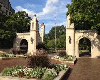 Bloomington, Indiana Photograph - Sample Gates - Cityscape Photo - Indiana University - Brick Road