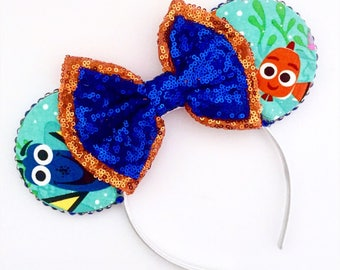 The Big Blue World - Handmade Mouse Ears Headband