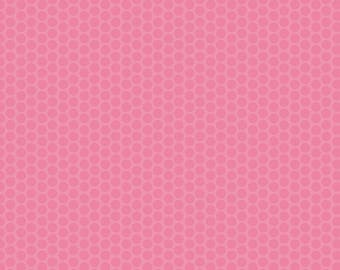 Pink Dot Fabric - Riley Blake Honeycomb Dot - Pink on Pink Dot Fabric - Tonal Pink