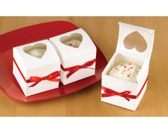 Heart Window Cupcake Boxes
