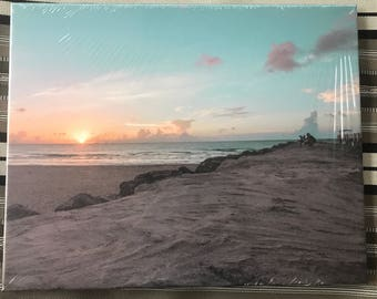 16x20 Canvas of South Point Pier beach view in Miami, Florida