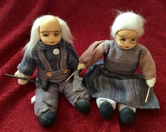 Vintage Grandma and Grandpa dolls