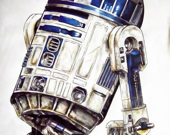 r2d2 star wars markers drawing more ink on a3 paper