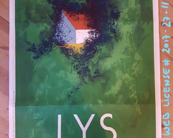 "Original Vintage Lithograph Poster ""Lys Chantilly"" by Cassandre 1930"