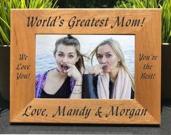 World's Greatest Mom // Personalized Engraved Photo Frame // Mother // Madre // Mommy // La mamá más grande del mundo // Gift