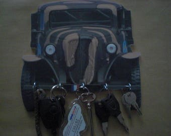 key wall hanging key personalized vintage truck CITROEN U 23
