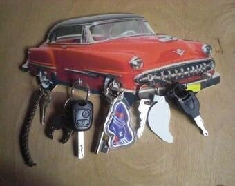 key wall DE SOTO, hanging keys wall vintage personalized