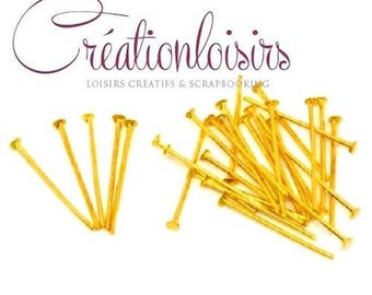 200 head posts nails coloured gold 20 mm x 07 mm nickel free