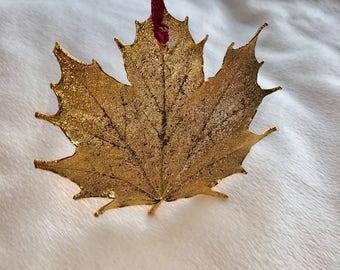 Gold dipped leaf