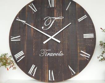 Large wall clock | Etsy