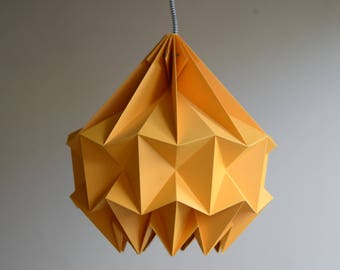 SNOW paper origami lampshade - orange