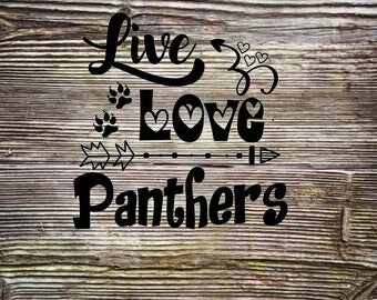 Live Love Panthers SVG DXF Digital Cut File