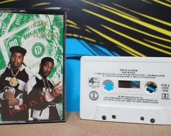 Paid In Full by Eric B & Rakim Vintage Cassette Tape