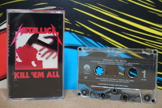 Kill 'Em All by Metallica Vintage Cassette Tape