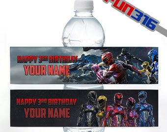 PRINTABLE Power Rangers Bottle Label