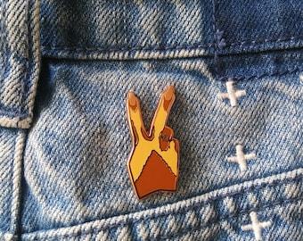 Peace Up Fall '17 Vitiligo Enamel Pin