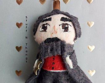 Edgar Allan Poe Keychain