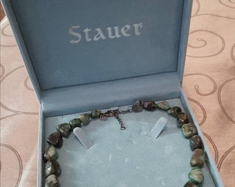 Stauer Raw Emerald Gemstone Necklace